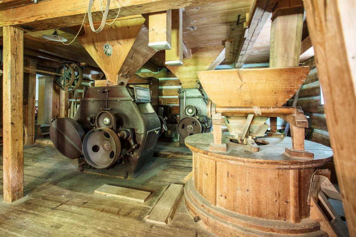 Interiér Janatova mlýna