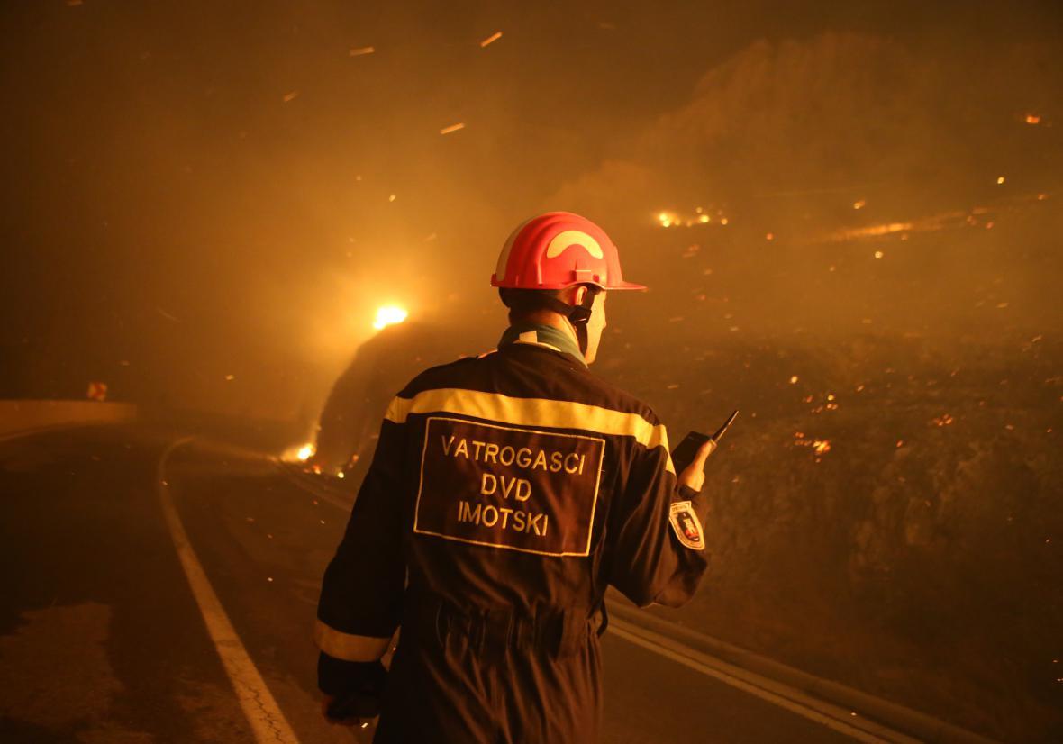 Požár v Chorvatsku
