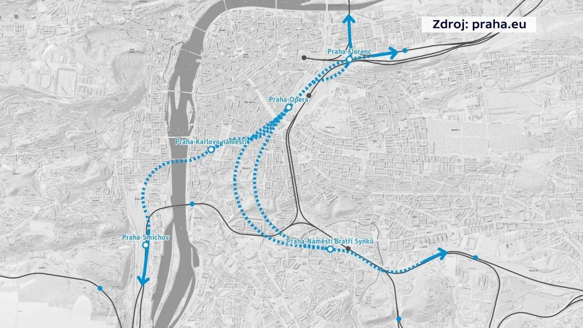 Trasa podzemních tratí
