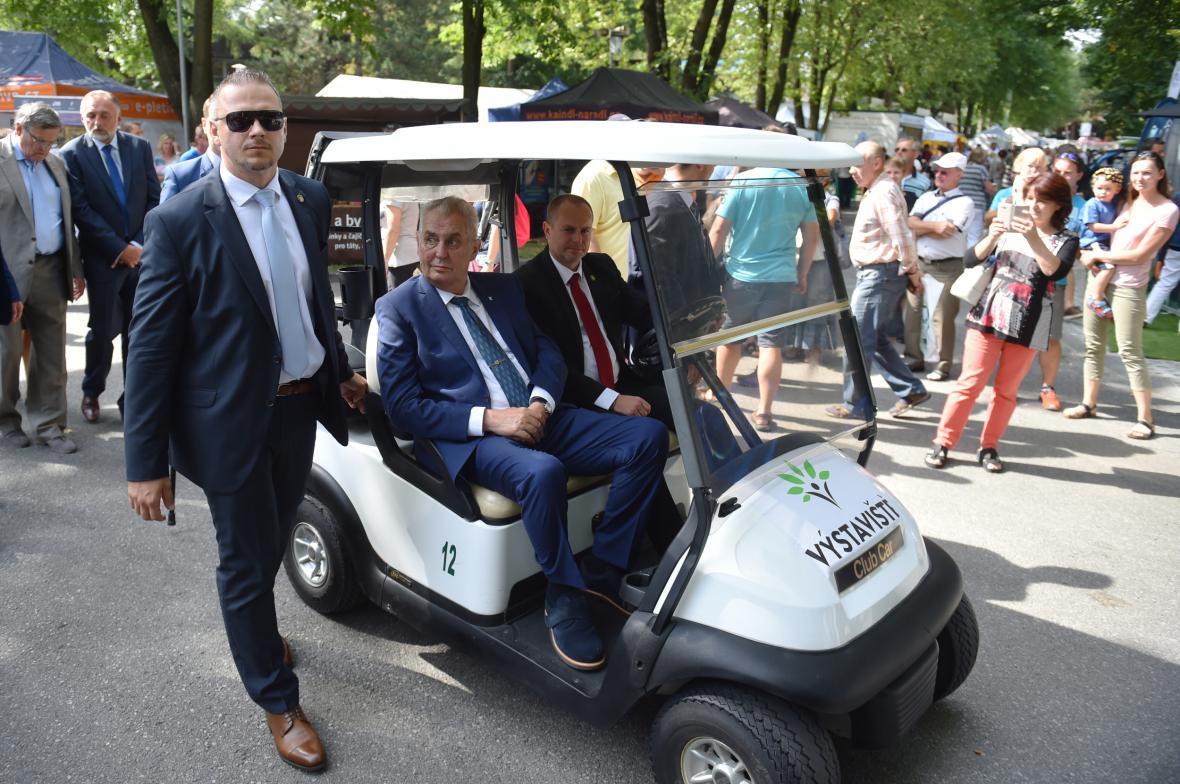 Miloš Zeman na agrosalonu Země živitelka