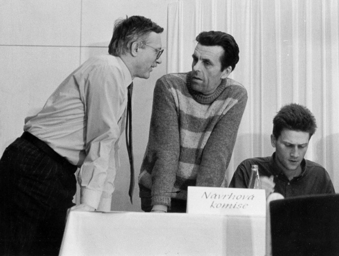 Jan Sokol a Václav Klaus v roce 1991