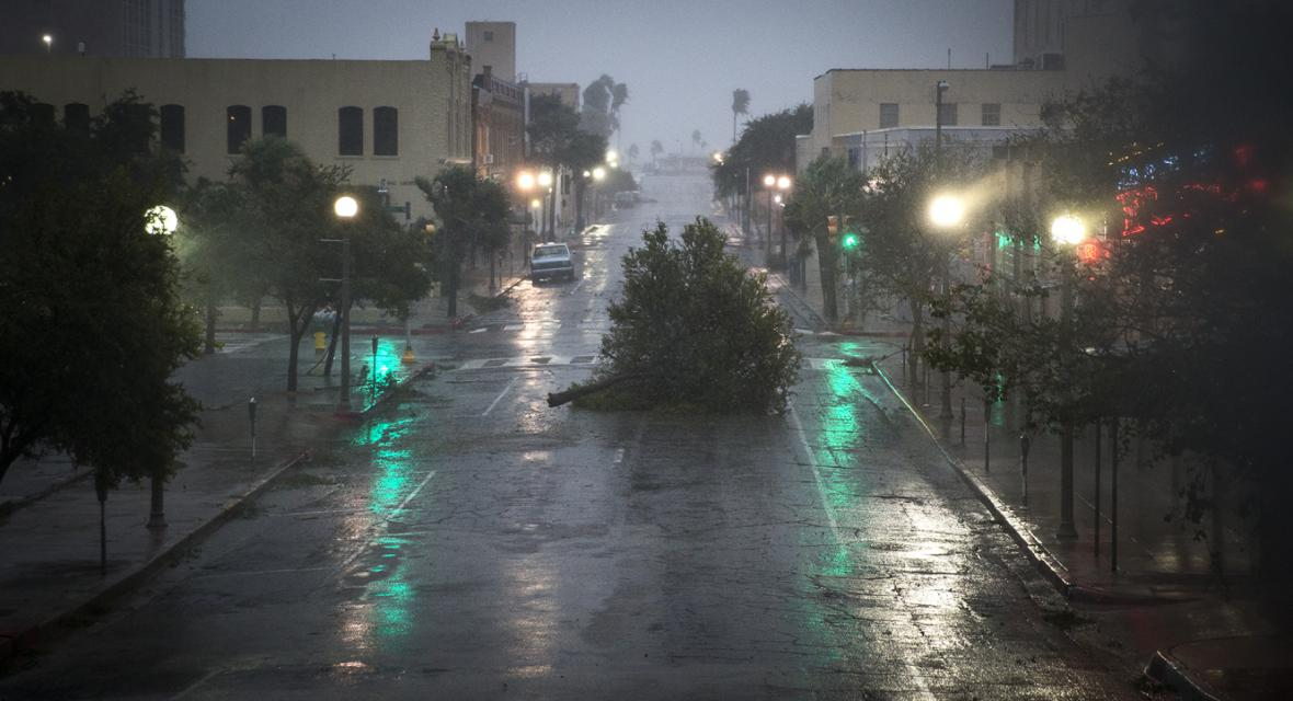 Hurikán Harvey zasáhl i město Corpus Christi