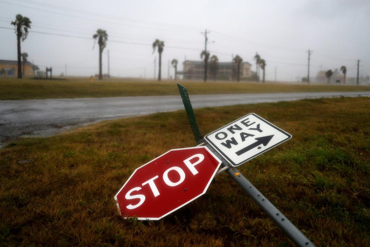 Hurikán Harvey na pobřeží USA