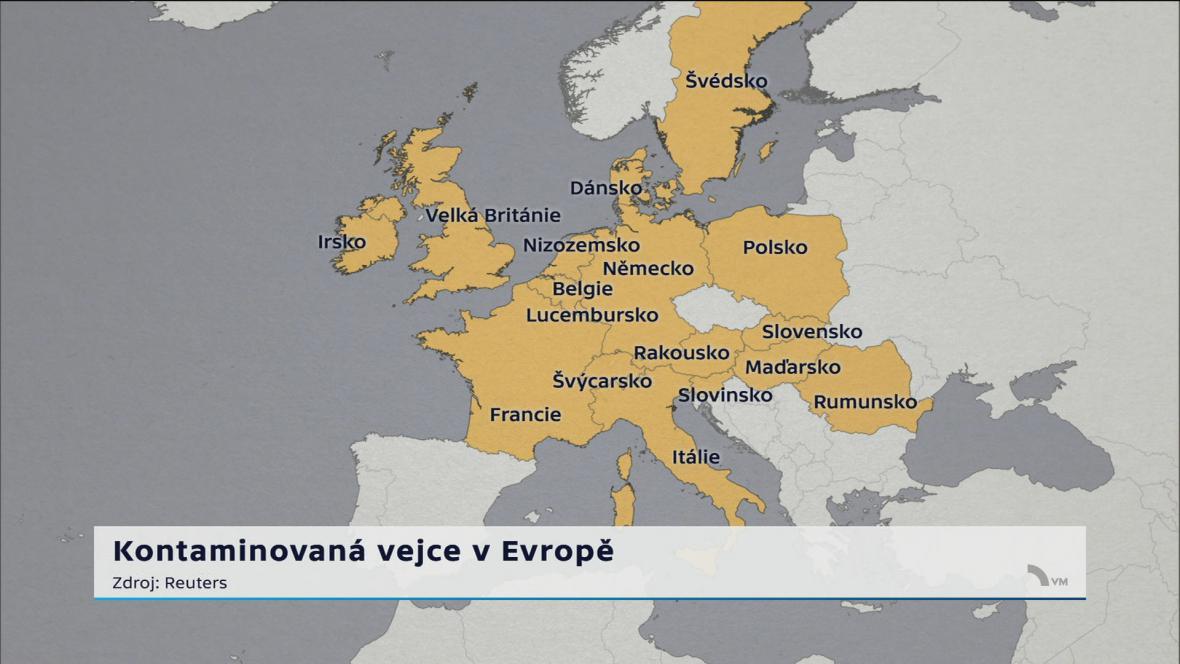 Kontaminovaná vejce v Evropě