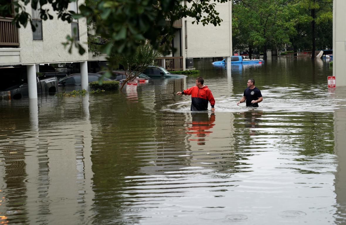 Záplavy v texaském Dickinsonu