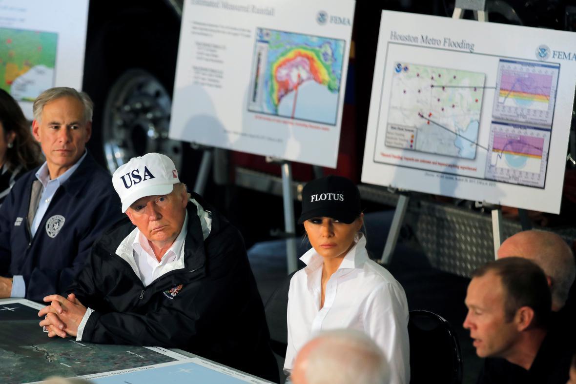 Donald Trump a jeho žena Melania v Corpus Christi