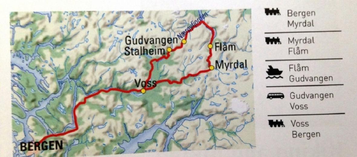 Trasa Norska v kostce