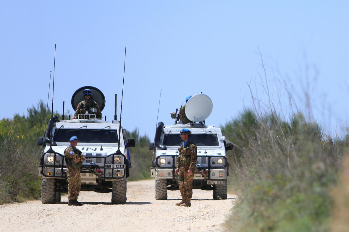 Hlídky mezinárodní mise UNIFIL