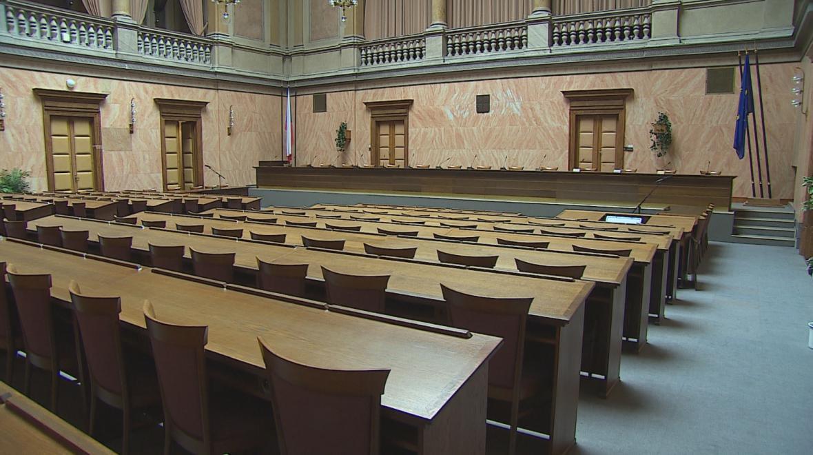 Sněmovní sál Ústavního soudu