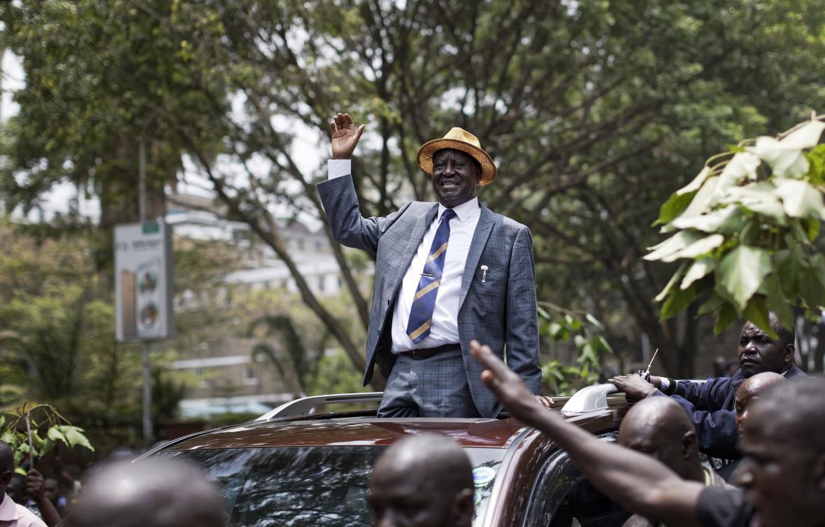 Neúspěšný prezidentský kandidát Raila Odinga po vynesení verdiktu nejvyššího soudu
