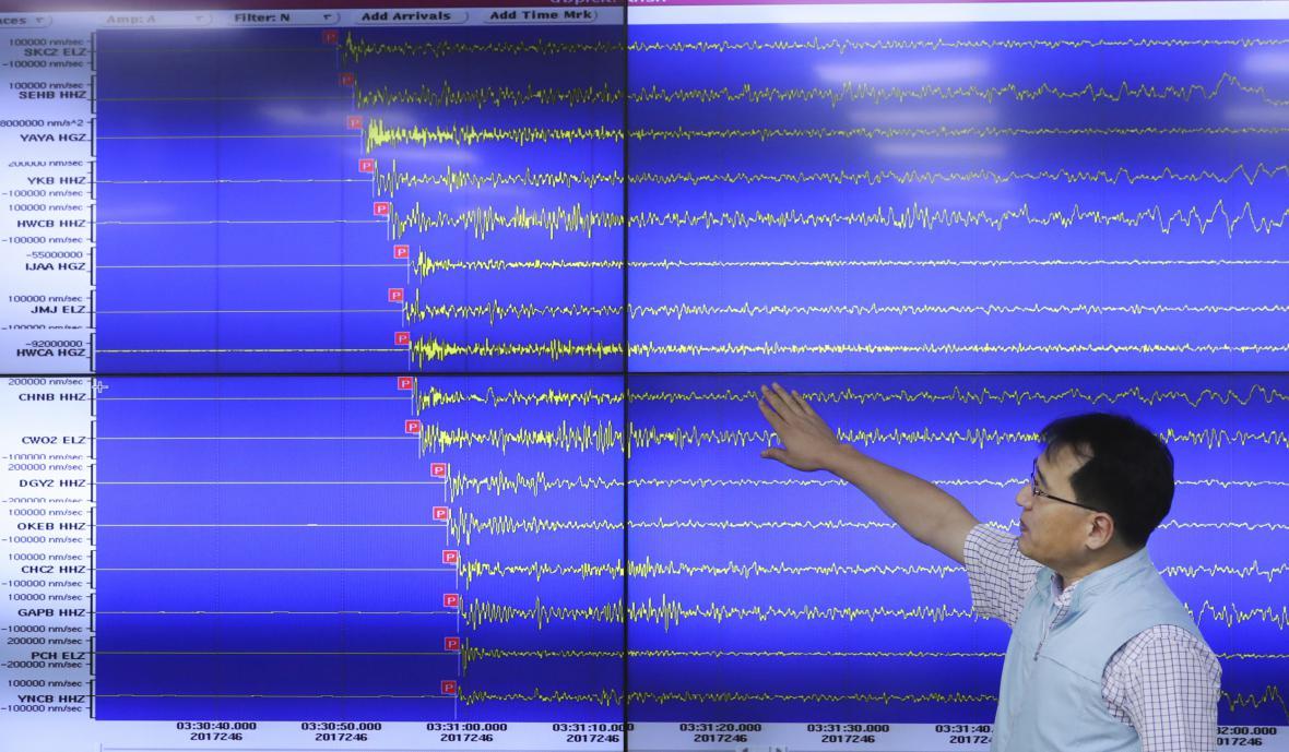 Analýza seizmologických otřesů po provedeném testu vodíkové bomby v KLDR
