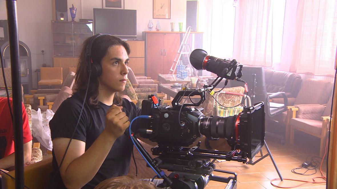 David Balda při natáčení filmu Narušitel