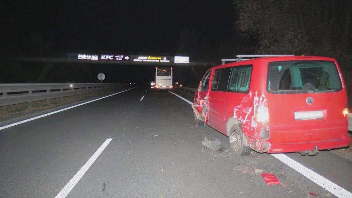 Nehoda na dálnici u Prostějova