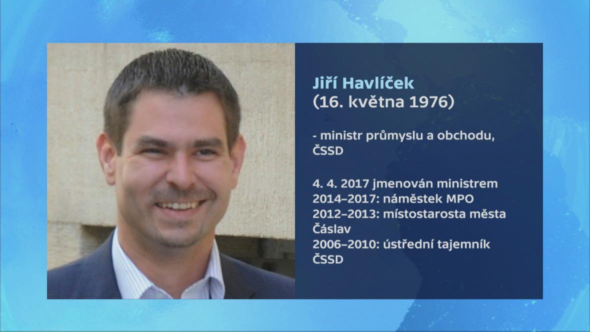 Ministr průmyslu a obchodu Jiří Havlíček (ČSSD)