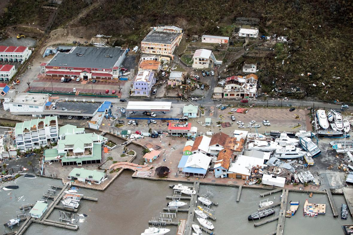 Letecké záběry ostrova Svatý Martin