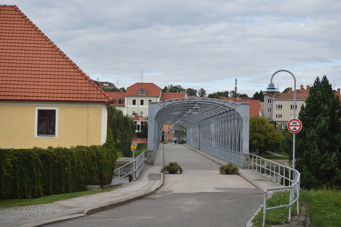 Železný most v Týně nad Vltavou