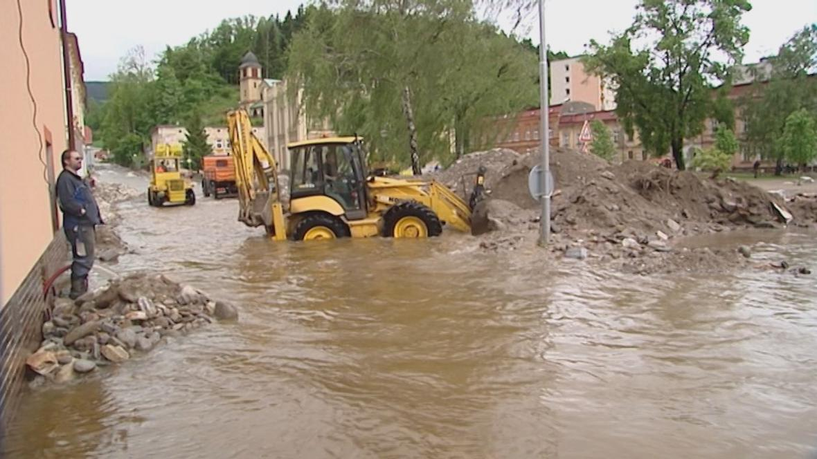 Povodeň ve Svobodě nad Úpou v létě 2013