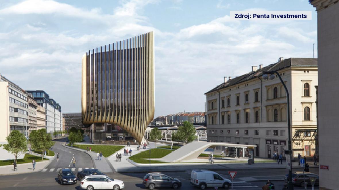 Budova poblíž Masarykova nádraží v Praze podle návrhu Zahy Hadídové