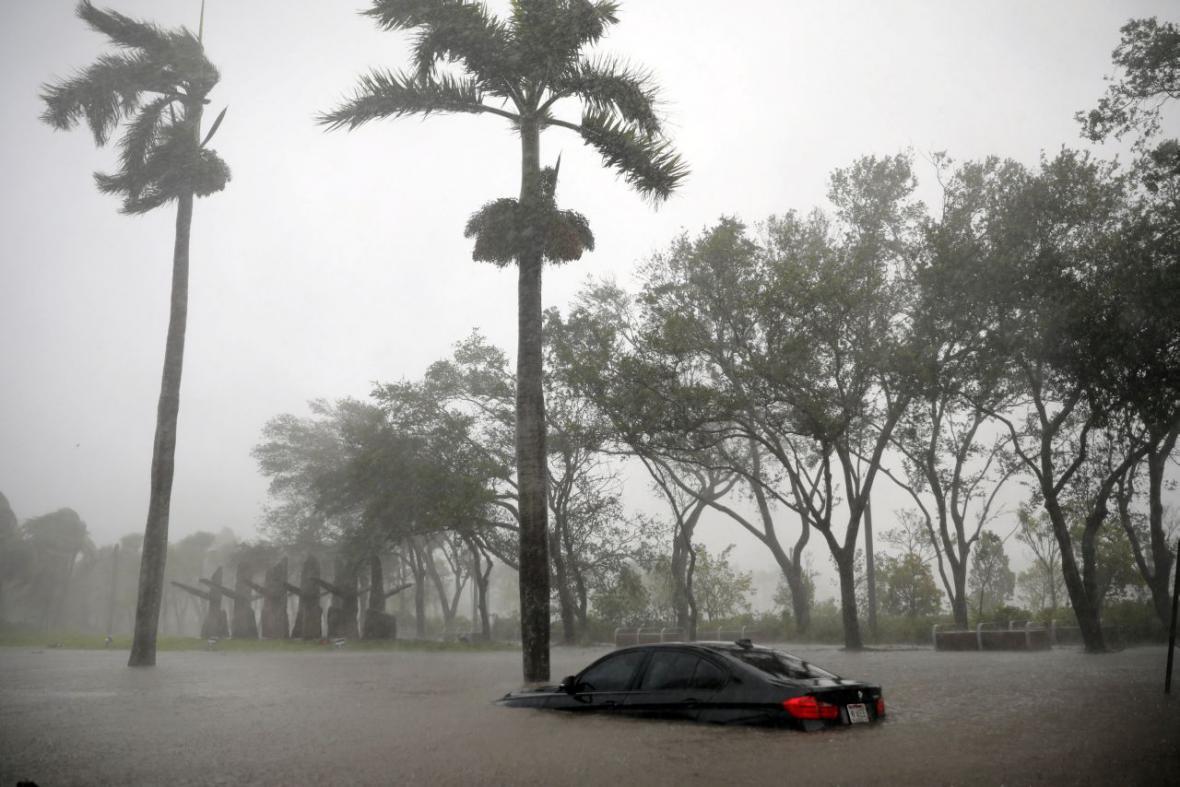 Zaplavené ulice Miami
