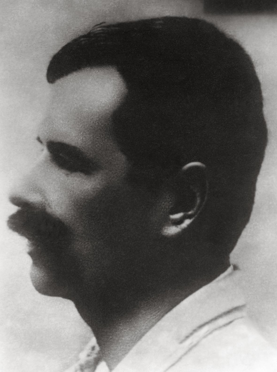 Fotografie Petra Bezruče uveřejněná v roce 1928; tehdy česká veřejnost poprvé zjistila, jak básník vypadá