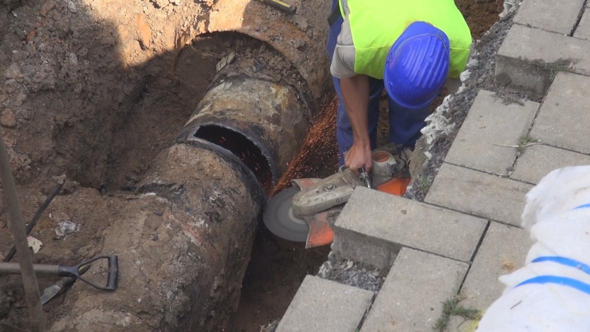 Oprava vodovodního potrubí
