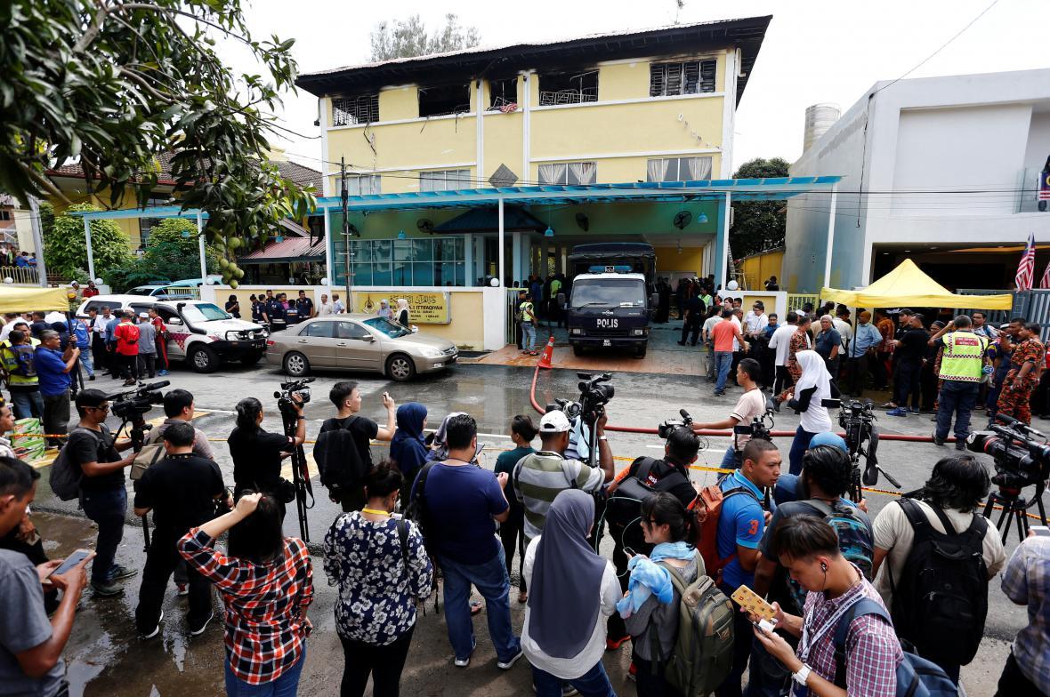 Požár školy v Malajsii