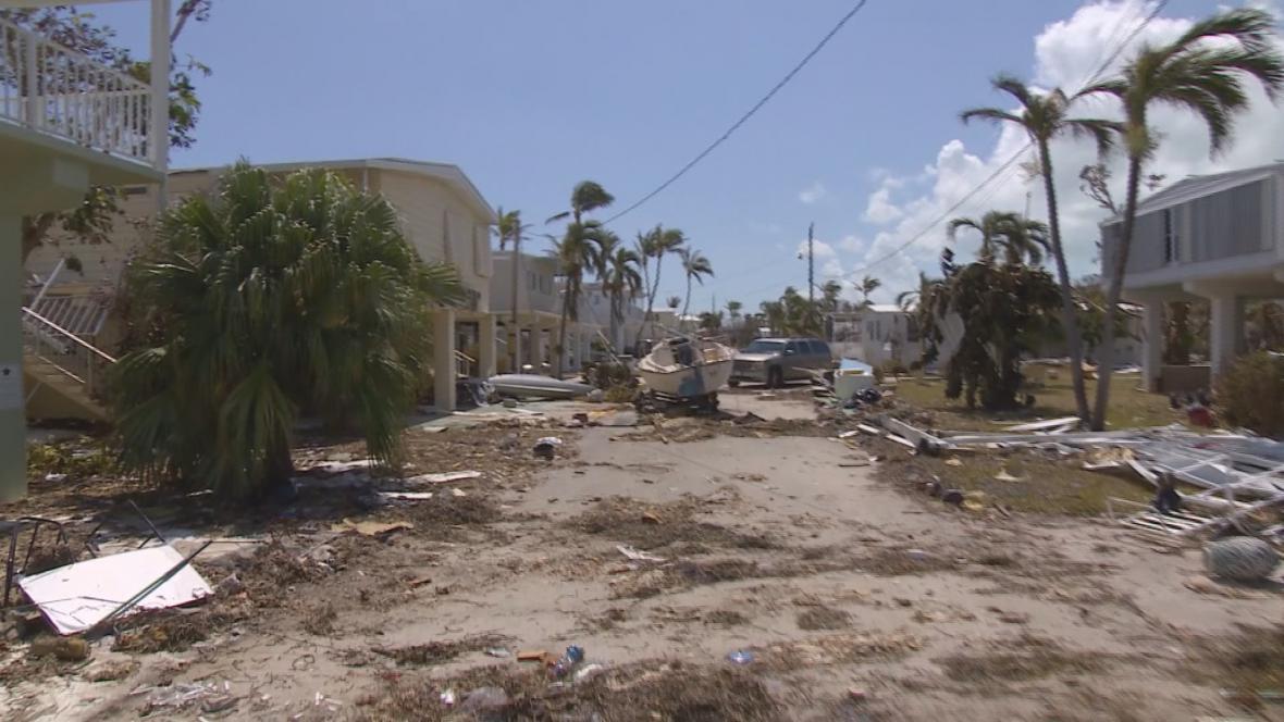 Zničené ostrovy Florida Keys pohledem štábu ČT