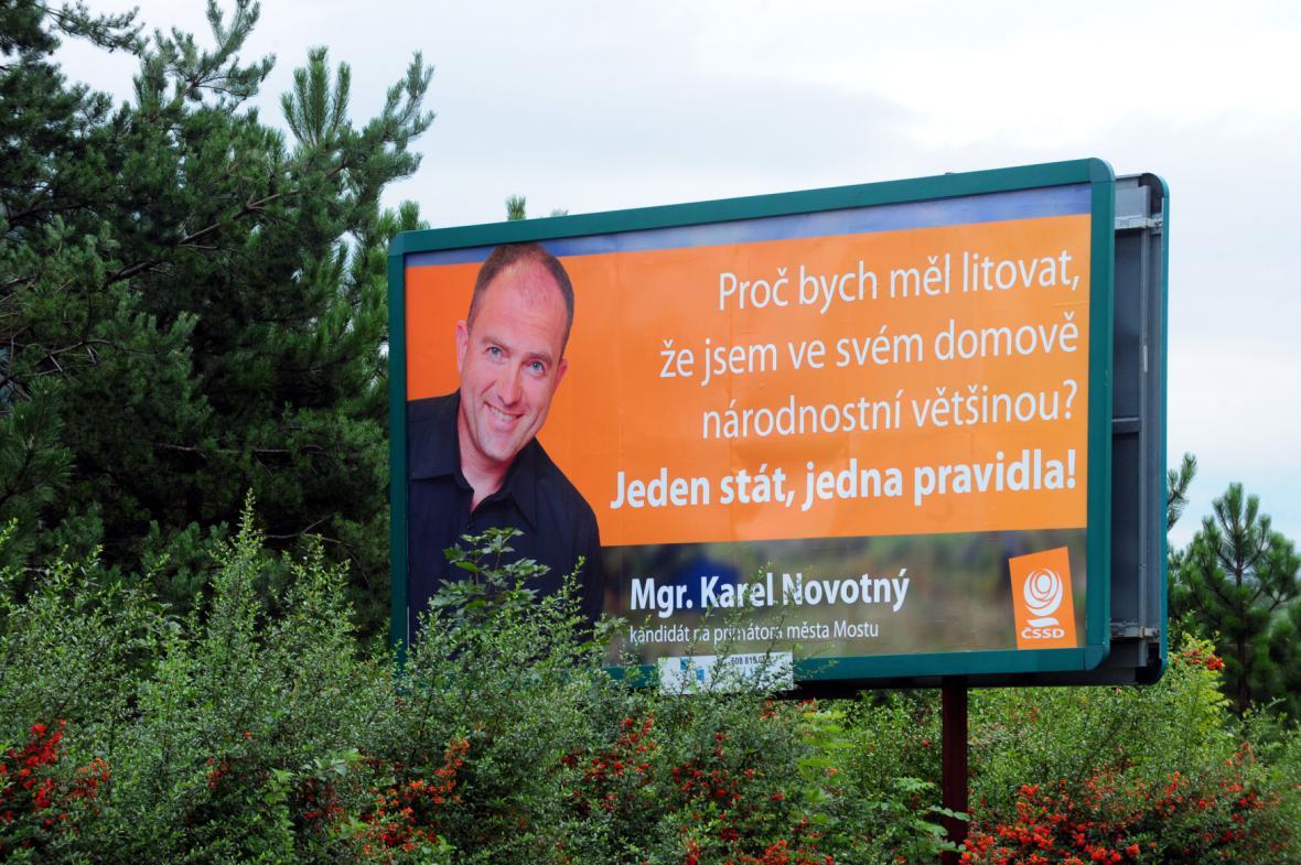 Billboard Karla Novotného z roku 2010