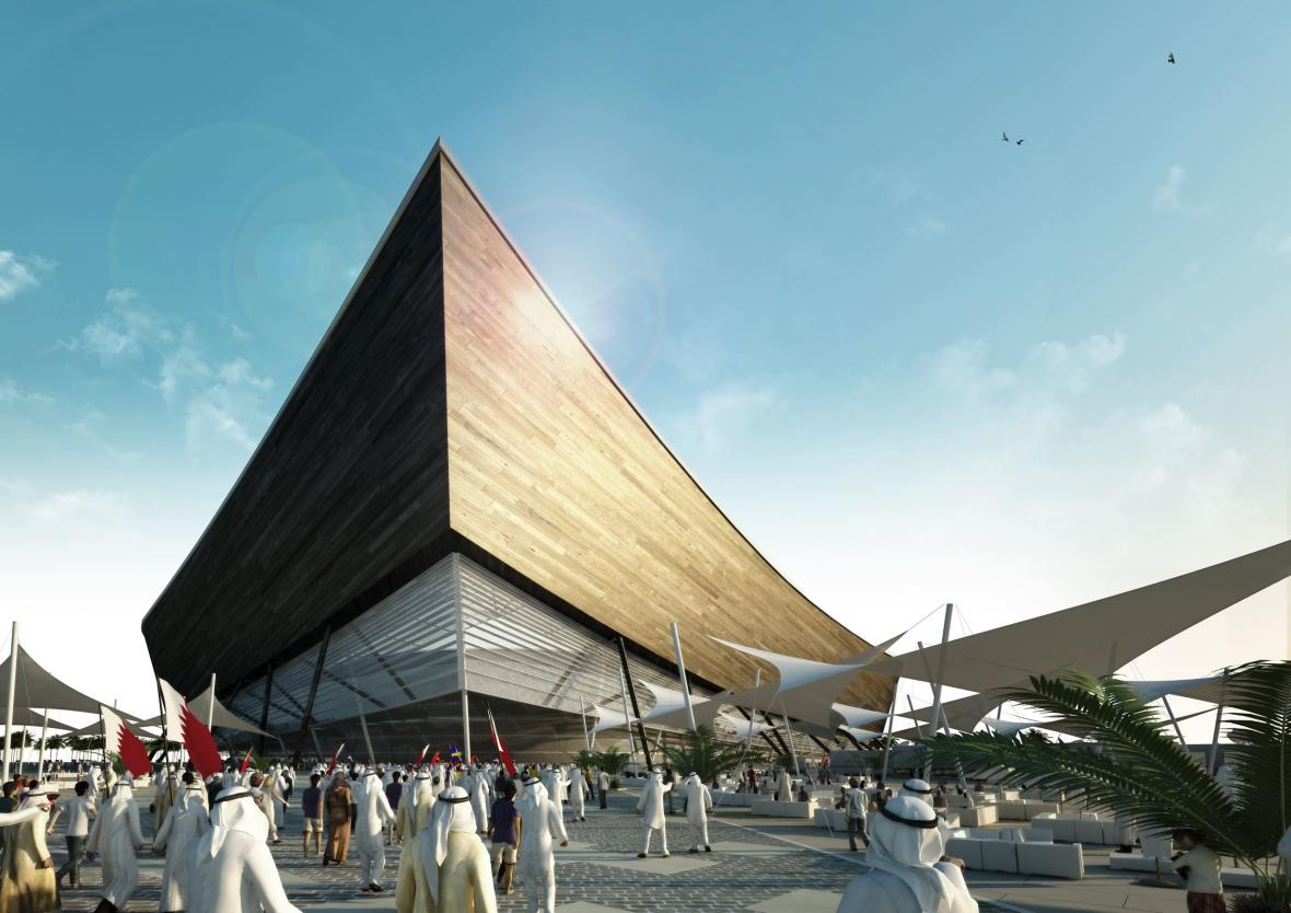 Návrh fotbalového stadionu pro MS v Kataru