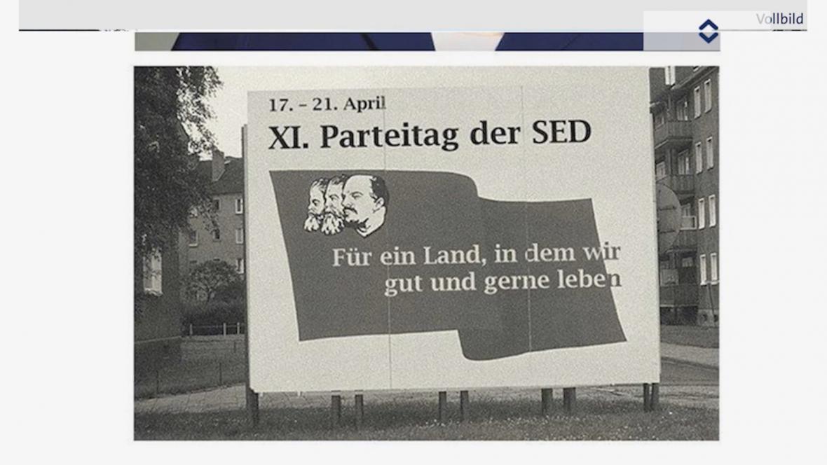 Zfalšovaná fotografie se sloganem CDU