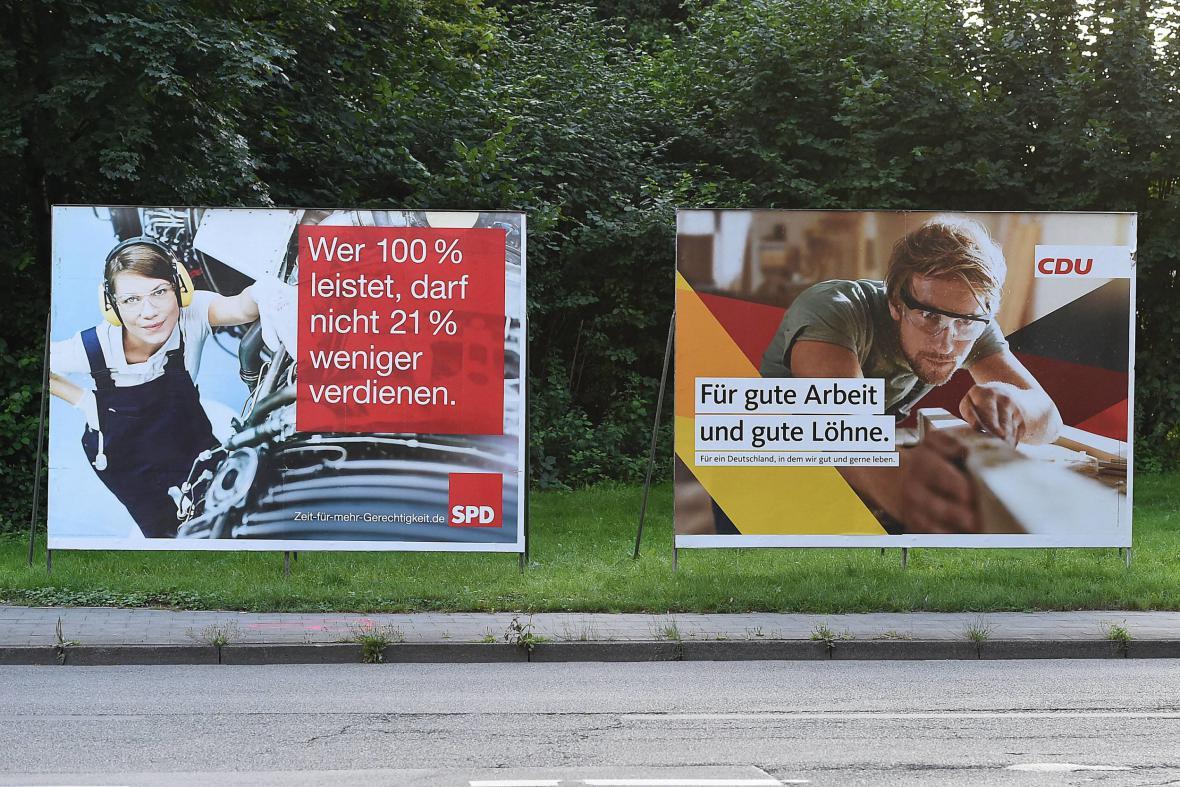 Kampaň SPD a CDU zaměřená na zaměstnávání