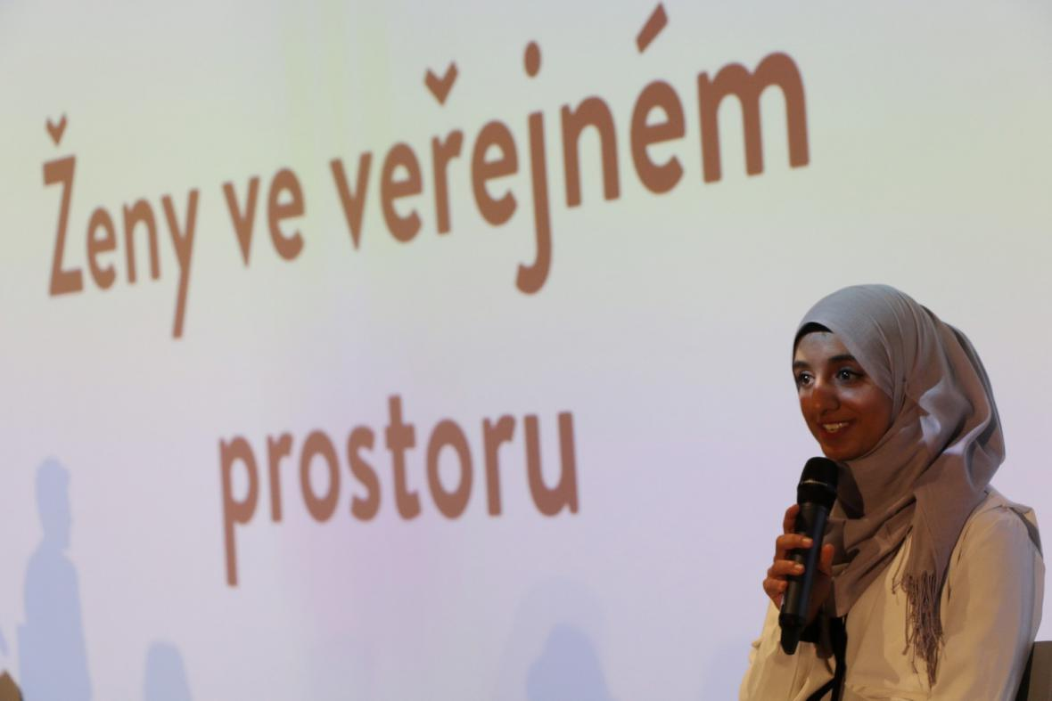 Eman Ghaleb na Kongresu žen