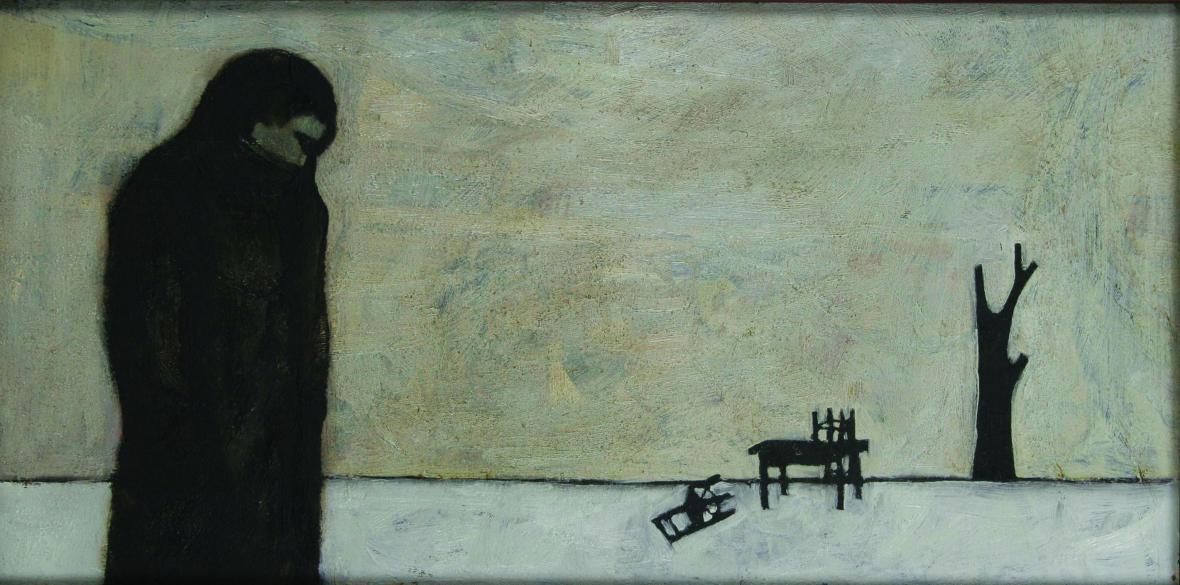 Alex Beran / Člověk sám v krajině, 1943