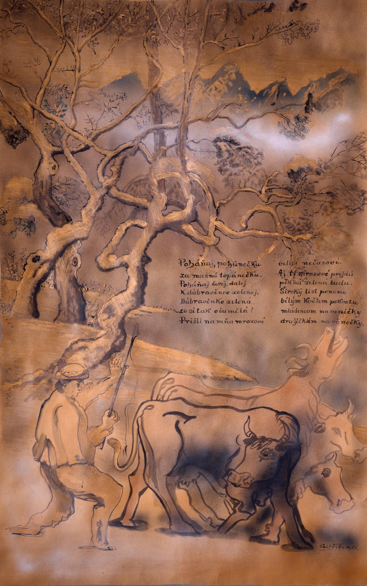 Emil Filla / Poháňaj, pohůnečku, 1951