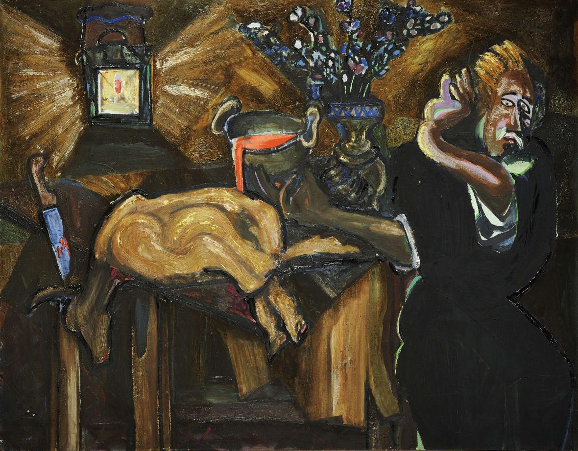 Emil Filla / Velikonoční oběť, 1948