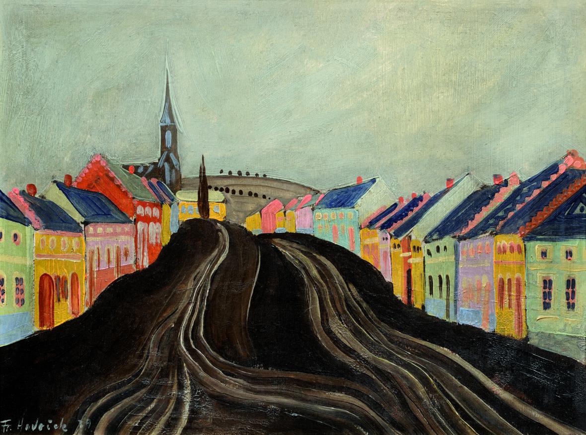 František Hudeček / Surreálné městečko, 1939