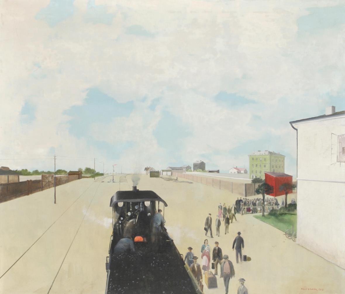 Kamil Lhoták / Nádraží (Vstříc osudu), 1948