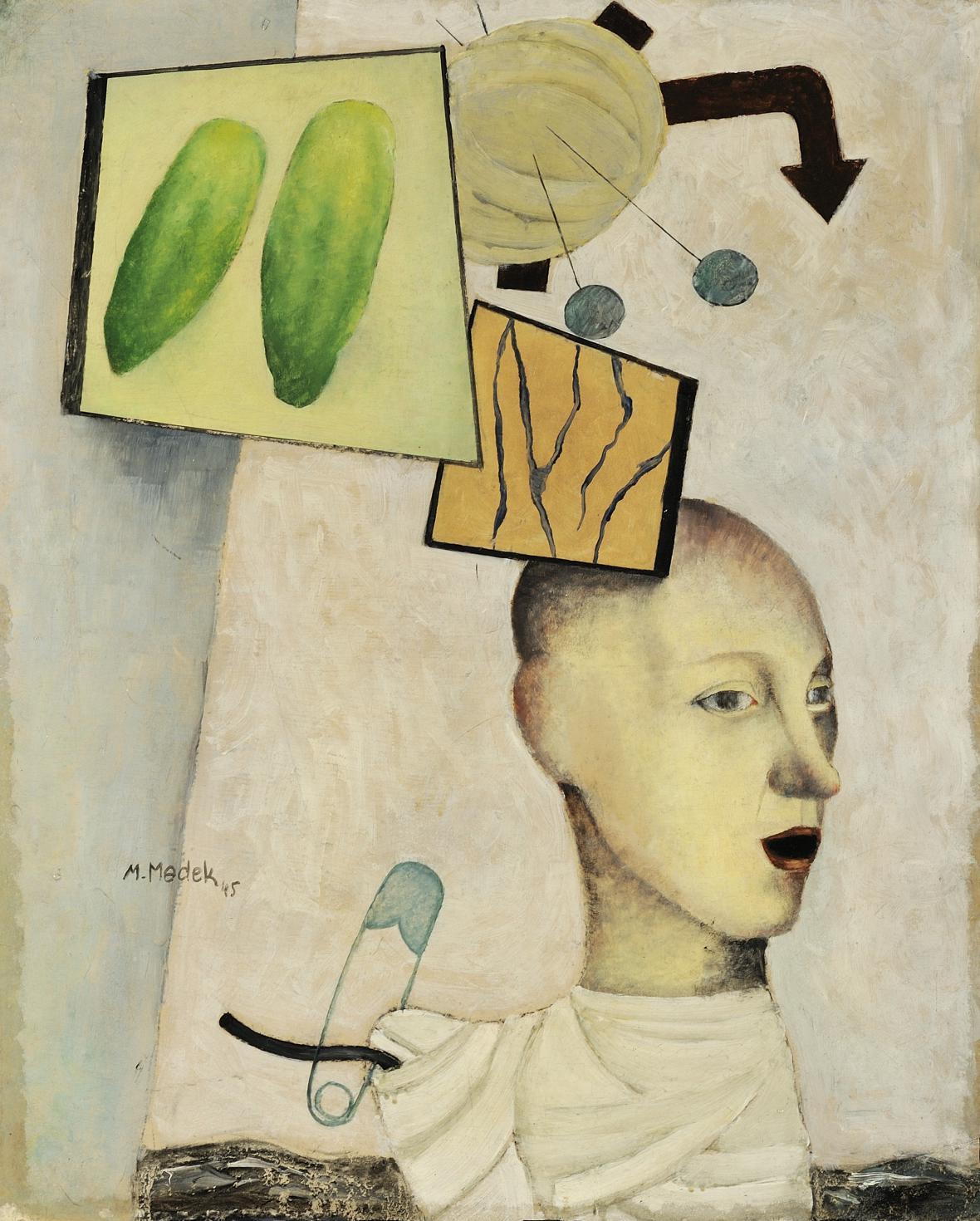 Mikuláš Medek / Bílý obraz, 1945