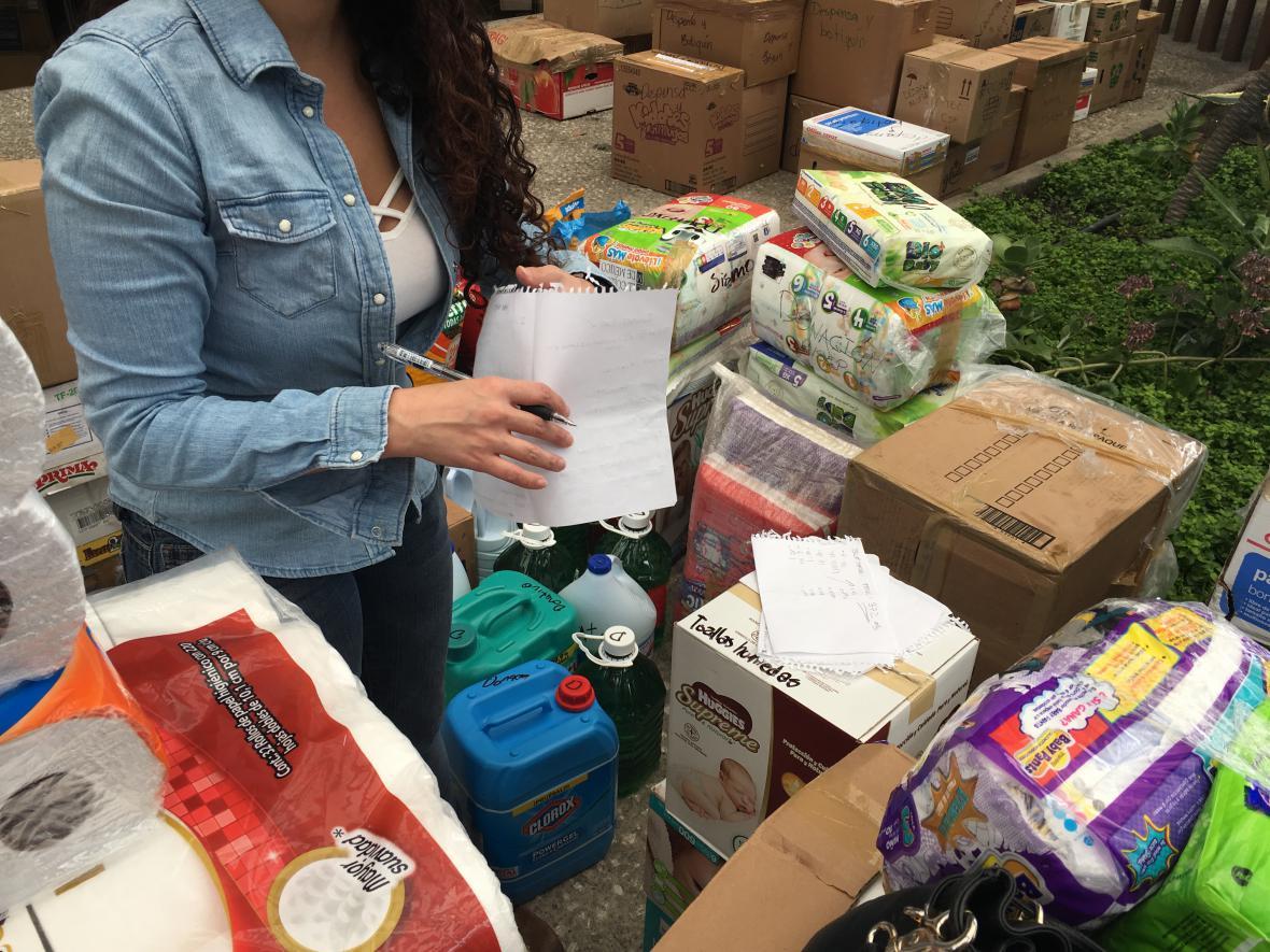 Pomoc pro oběti zemětřesení v Mexiku