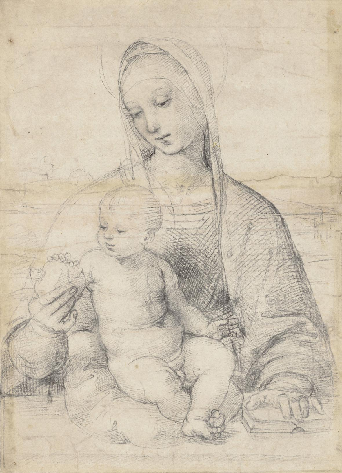 Raffael / Madona s granátovým jablkem, kolem 1504