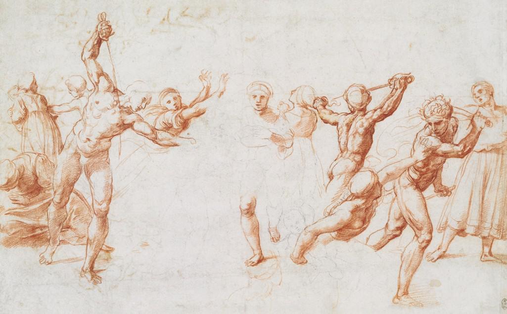 Raffael / Vyvraždění neviňátek, přibližně 1505-10