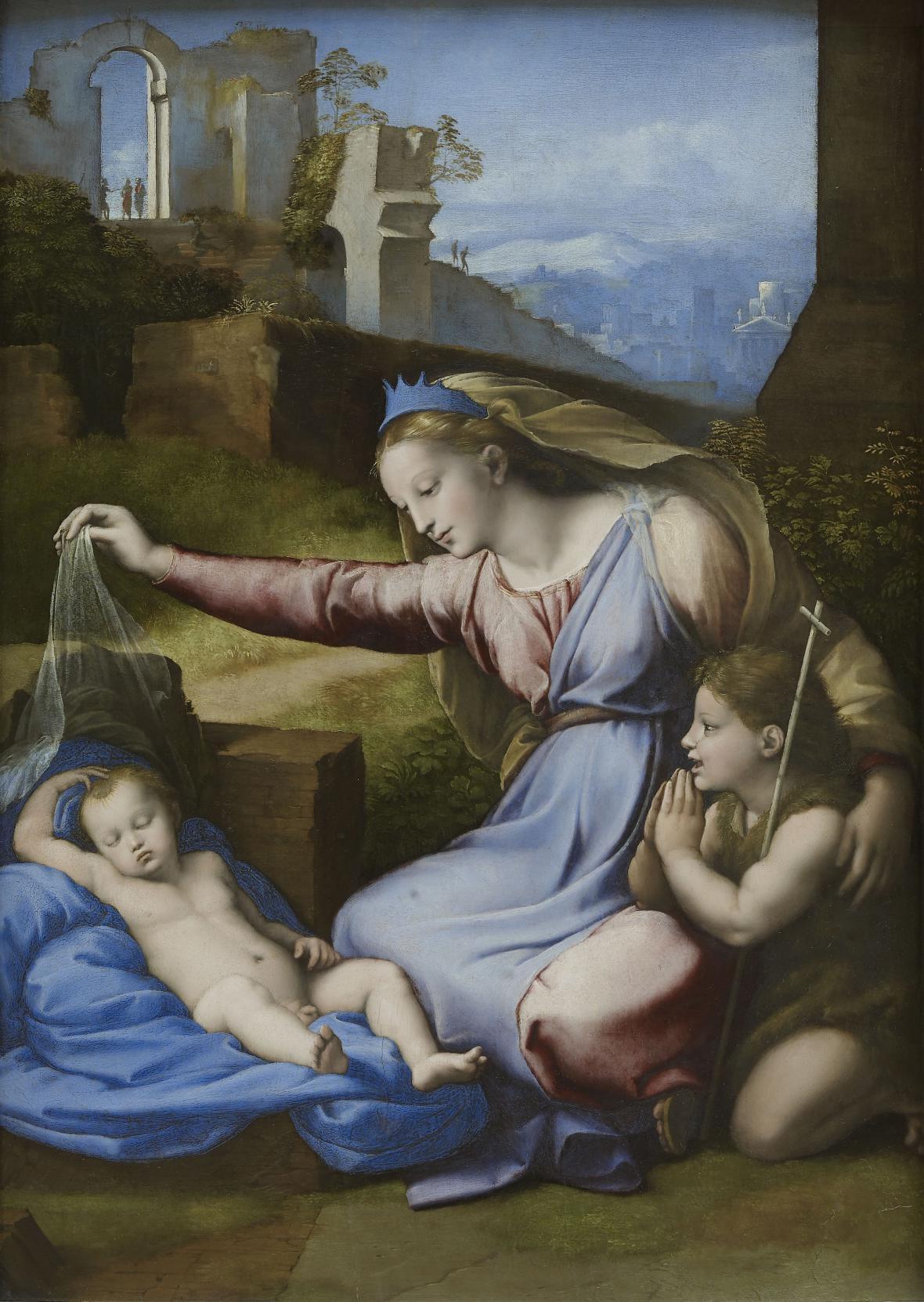 Raffael / Madona s modrým diadémem, 1511