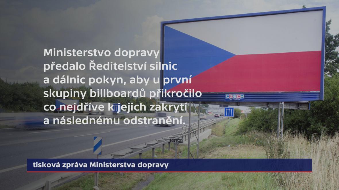 Ministerstvo dopravy k odstraňování billboardů