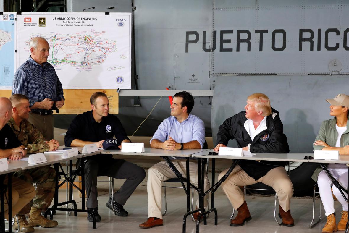 Trump na Portoriku