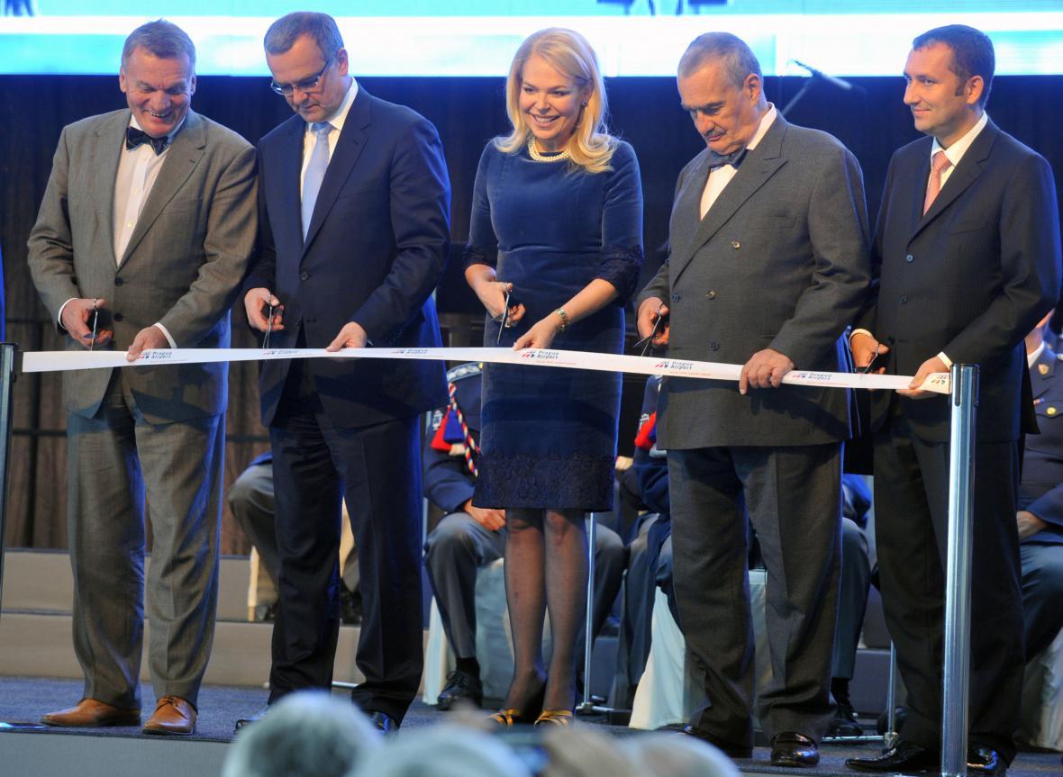 Slavnostní otvírání letiště Václava Havla