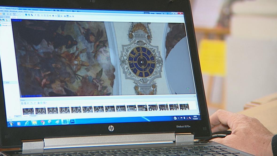 3D skenování klenby baziliky sv. Markéty