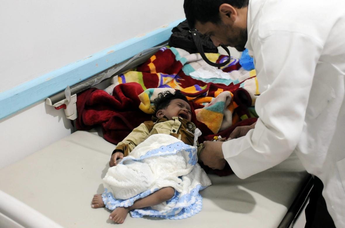Boj s cholerou v Jemenu