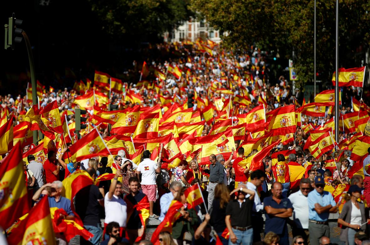 Demonstrace za jednotu Španělska