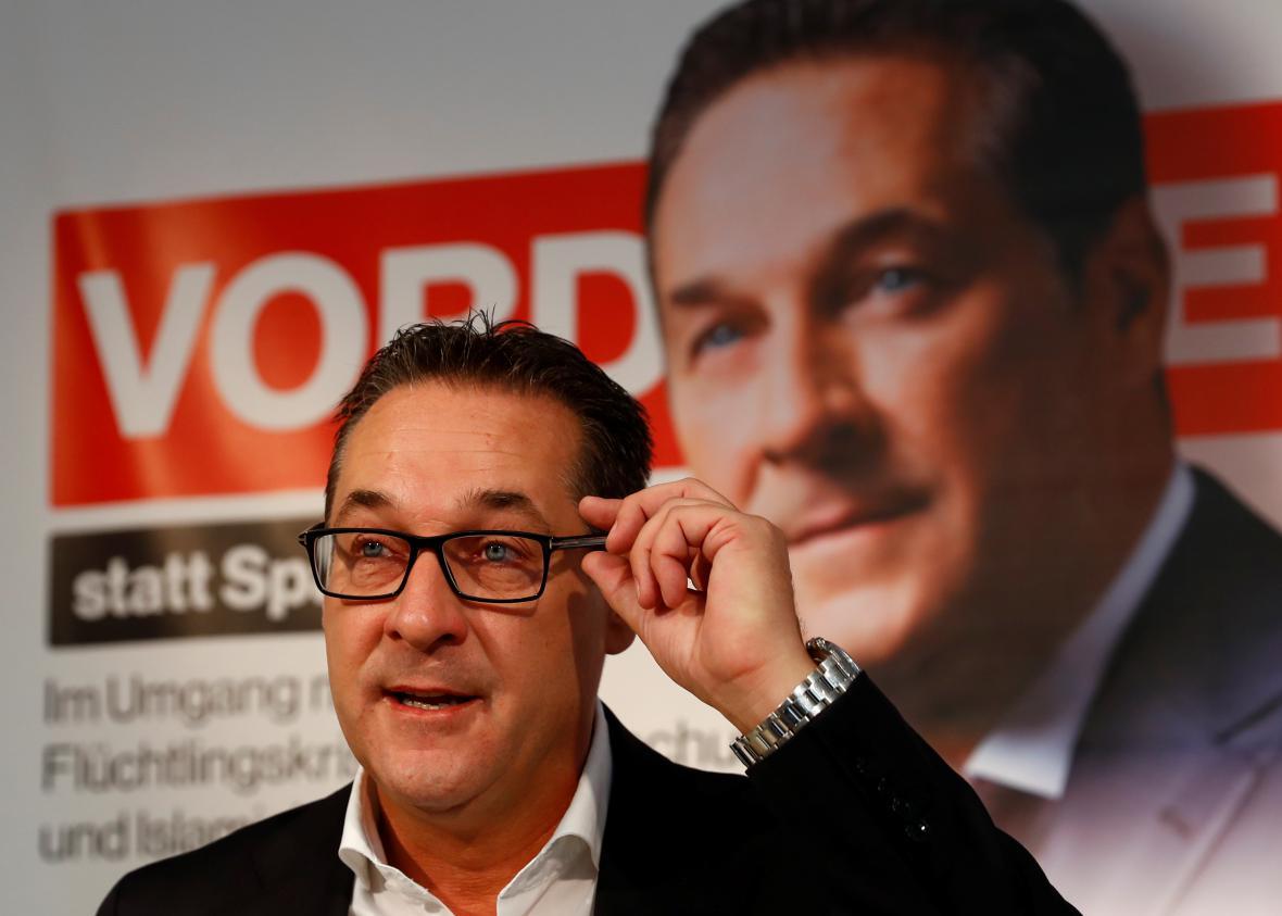 Předseda a volební lídr FPÖ Heinz-Christian Strache