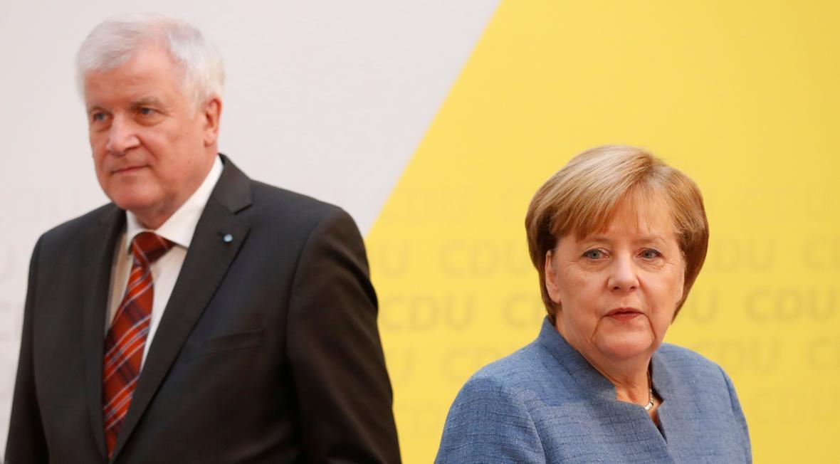 Horst Seehofer a Angela Merkelová